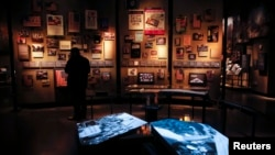 Salah satu ruangan di dalam Museum serangan teroris 11 September 2001 di kota New York (14/5).