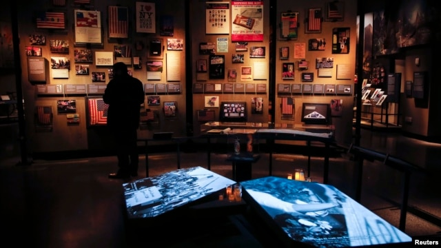 The historical exhibition section inside the National September 11 Memorial & Museum is seen during a press preview in New York, May 14, 2014.