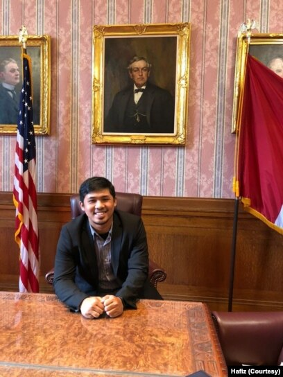 Hafiz ketika mengikuti IVLP di Amerika. (Foto: Courtesy/Hafiz)