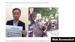 Hôm 27/5, Cơ quan Truyền thông Toàn cầu của Mỹ (USAGM) ra tuyên bố lên án việc chính quyền Việt Nam bắt giữ nhà báo độc lập-blogger Nguyễn Tường Thuỵ, gọi đây là hành động nhằm bịt miệng những tiếng nói chỉ trích chính phủ. Photo USAGM.