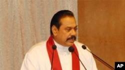 سری لنکا کے صدر مہندرا راجا پاکسا