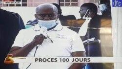 Jeanot Muhima mosala ya présidence ya import-export na bosambisami mpo na mikolo 100 ya bokonzi ya président Félix Tshisekedi na boloko ya MAkala CPRK, Kinshasa, 23 juin 2020.