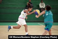 As part of the During the 'One Win Leads to Another,' progtram, sport helps girls gain confidence in their strength and abilities, which they can then apply to overcome other challenges, at Olympic Vila of Mangueira, north of Rio de Janeiro, Brazil.
