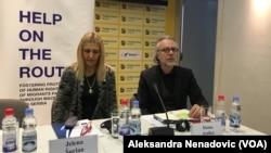 Jelena Šurlan iz Komesarijata za izbeglice i migrante i Dušan Aralica iz Visokog komesarijata UNHCR
