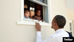 Obama Twitter message