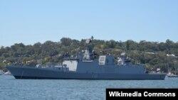 Tàu Hải quân INS Sahyadri của Ấn Độ.