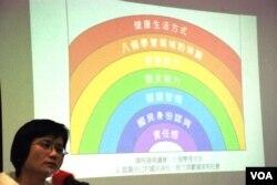 陳惜姿表示,要求香港教育局課程發展議會修改學習宗旨,以認識公民身分代替國民身份認同