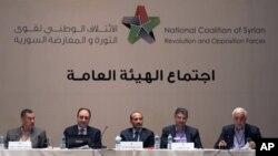 Koalisi Nasional Suriah saat menggelar pertemuan di Istanbul, Turki, 13 September 2013 (Foto: dok).