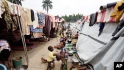 The Duekoue camp in western Ivory Coast, April 13th, 2011. The camp became home to 28,000 displaced people.
