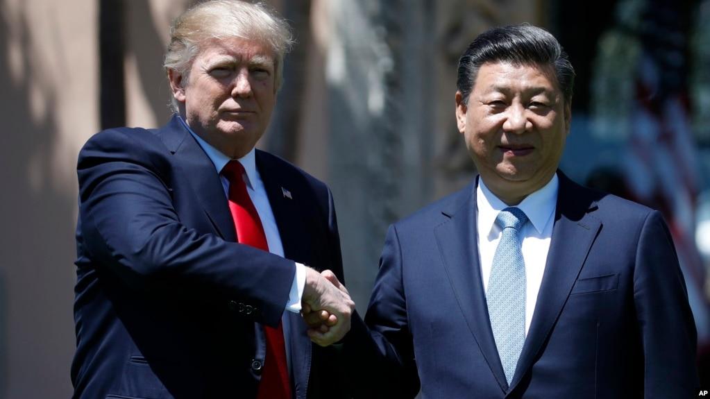 Ông Trump và Chủ tịch Trung Quốc trong cuộc gặp hôm 7/4.