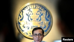 Thủ Tướng Thái Lan Prayuth Chan-ocha phát biểu tại một cuộc họp báo ở Bangkok ngày 26/3/2019. REUTERS/Athit Perawongmetha