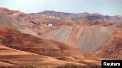 북한 무산 인근의 철광산. (자료사진)