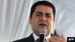 FILE - Honduran President Juan Orlando Hernandez