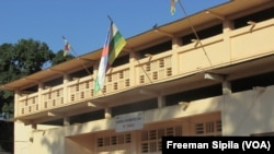 Vue du Tribunal de Grande Instance de Bangui, RCA le 18 août 2016. (VOA/Freeman Sipila)