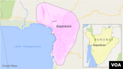 布隆迪位置圖
