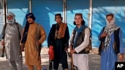 """Боевики """"Талибана"""" на севере Афганистана. август 2021г."""