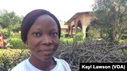 Clarissa Adjovi Adé, volontaire de la 12ème promotion à Lomé, Togo, 6 décembre 2017. (VOA/Kayi Lawson)