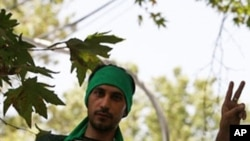 An Iranian opposition supporter from the Green Movement (file photo)