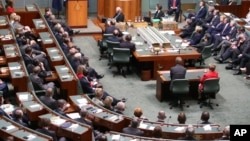 A view of the federal parliament in Canberra, Australia, file photo.