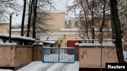 FILE - A view of the pre-trial detention center Lefortovo, where former U.S. Marine Paul Whelan is reportedly held in custody, in Moscow, Jan. 3, 2019.