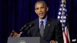 """Obama defendió sus políticas en Asia, y dijo mantiene la esperanza que su sucesor """"mantenga esta clase de involucramiento"""" en Asia."""
