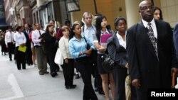 Redovi na sajmu zapošljavanja u Njujorku