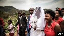 Un mariage à Ruhengeri, au Rwanda, le 1er août 2017.