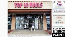 Top 10 Nails, nơi nhận bức thư với lời lẽ thù hận. (Hình: Trích xuất từ pe.com)