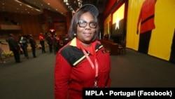 Luísa Damião, vice-presidente do MPLA, partido no poder em Angola