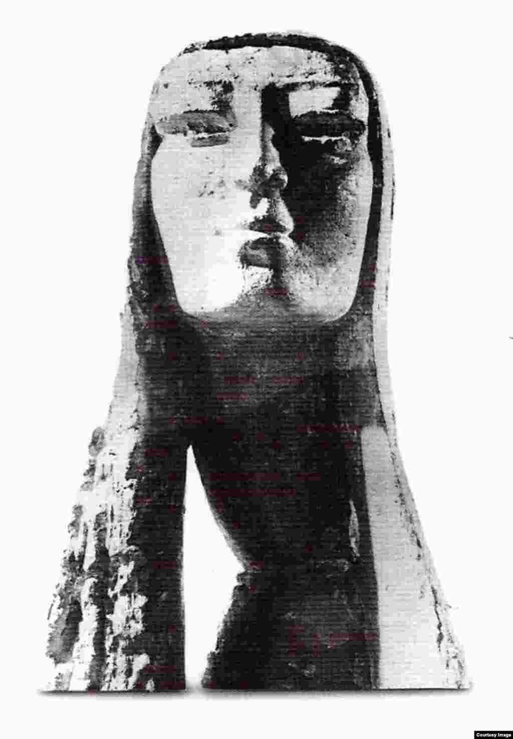 Chân dung. tượng Mai Chửng Đất nung – 1962
