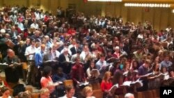 """This year's """"Messiah Sing-In"""" at Lincoln Center was attended by nearly 2,000 people."""