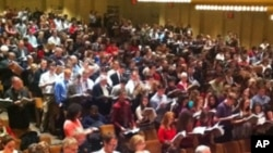 "This year's ""Messiah Sing-In"" at Lincoln Center was attended by nearly 2,000 people."
