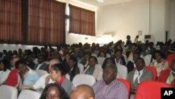 Participantes nas Jornadas Cientificas da Faculdade de Medicina de Malanje