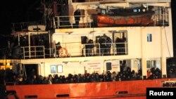 Hafta içinde İtalya'nın müdahale ettiği bir diğer gemi de Moldovya bandıralı Blue Sky'dı