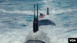 Latihan angkatan laut gabungan AS-Korea terakhir yang dilakukan 25-28 Juli 2010 di sebelah timur perairan Korea.