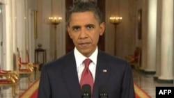 Başkan Obama Beyaz Saray'dan yaptığı canlı yayın konuşmasında