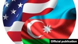 ABŞ-Azərbaycan bayraqları