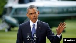 tổng thống Obama cho biết đang cứu xét mọi phương án để hỗ trợ cho chính phủ Iraq, nhưng nay đã loại trừ việc gửi binh sĩ Hoa Kỳ đến đó.