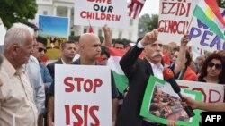 Mutane a Washington DC sun yi zanga zangar neman a ruguza kungiyar ISIS ko ta halin yaya