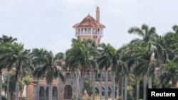 特朗普总统在佛罗里达州棕榈滩的海湖庄园。(资料照片)