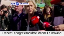 VOA60 World- Le Pen, Macron reach run-off stage of French presidential election