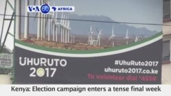 VOA60 Africa - Kenya: Election campaign enters a tense final week