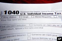 ABD'de vergi toplamaktan sorumlu kurum olan İç Gelir Dairesi'nin (IRS) vergi mükelleflerinin doldurması için hazırladığı beyanname formlarından biri.