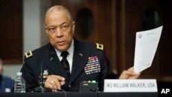 Thiếu tướng William Walker, Chỉ huy trưởng Vệ binh Quốc gia Washington D.C., ngày 2/3 điều trần tại Thượng viện về vụ tấn công Điện Capitol ngày 6/1/2021.