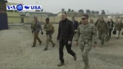 VOA60 America - Acting U.S. Defense Secretary Pat Shanahan visited Afghanistan Monday