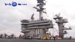 Tàu sân bay hạt nhân Mỹ áp sát Triều Tiên (VOA60)