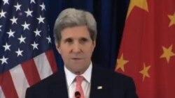 美國國務卿克里結束對中國的訪問