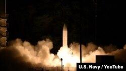 미 국방부가 실시한 극초음속 활강체 비행실험.
