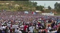 Perezida Paul Kagame mu bikorwa byo kwiyamamaza mu Karere ka Burera.