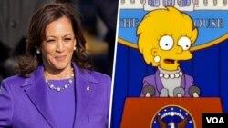 ماجرا به شباهت یک بخش از کارتون سیمپسونها با مراسم تحلیف رئیس جمهوری آمریکا و معاون او ربط داشت.